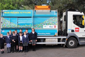 Food waste trucks go on a special visit to schools