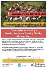 Community Led Housing Conference - Wednesday 13 June 2018