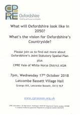 Oxfordshire Joint Statutory Spatial Plan (CPRE Event)