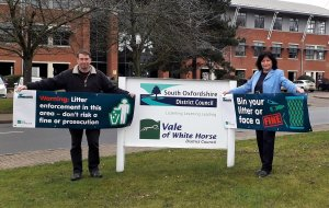 Waste enforcement officers take to the streets to tackle litter