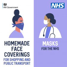 People urged to wear face coverings and stay alert