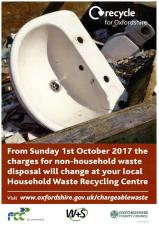 News about household waste charges at recycling centres in Oxfordshire